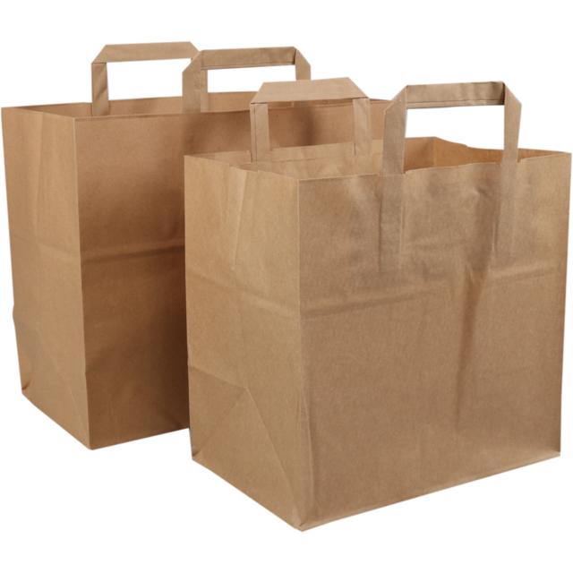 Bag Pulp Flat Paper Handles 26xside