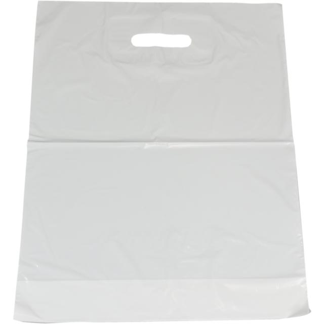 DKT Carrier Bags Plastic Bags Grip Hole Bags White 38x45+2x5cm 40my Stable Set