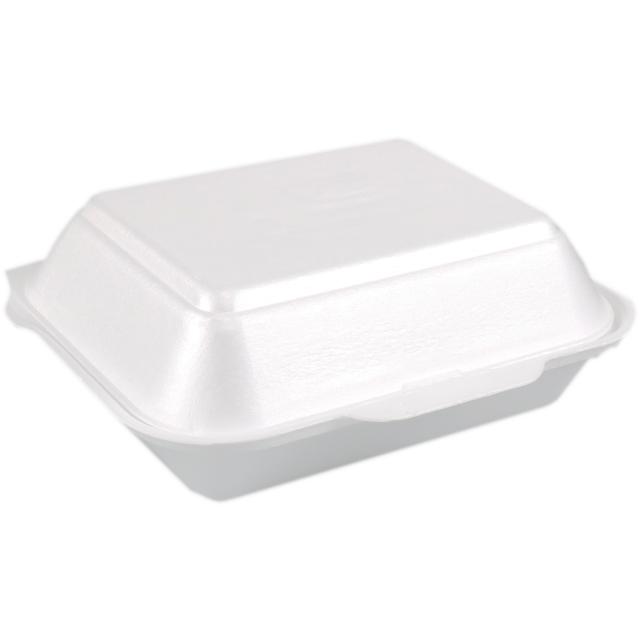 Container EPS hamburger box 185x133x75mm white 441818