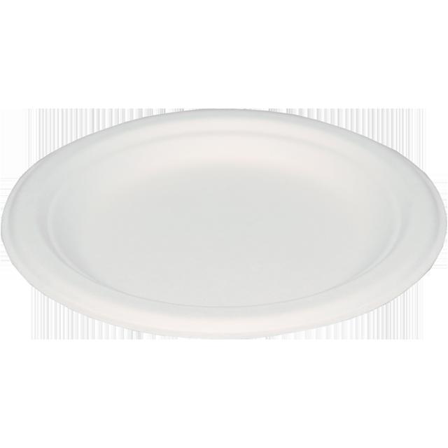 Plate Round 1 Compartment Paper ø170mm White 455832 Neutraal Eating De Verpakkingswinkel
