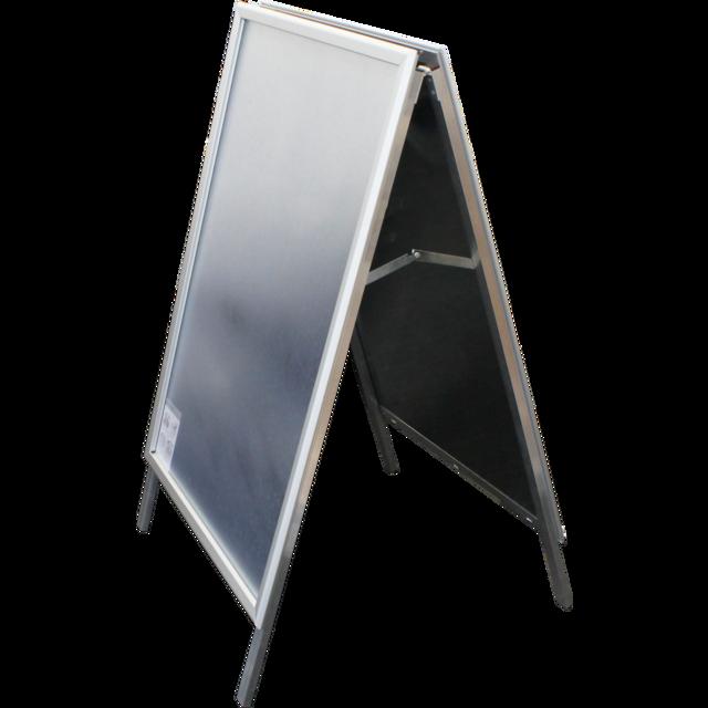 Stop trottoir aluminium panneau chevalet avec cadre clic for Pancarte publicitaire exterieur