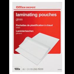Apparaten en toebehoren office depot laminating sleeve pp 148x210mm a5 transparent reheart Images
